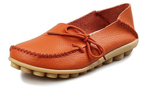 Eagsouni Damen Mokassins Bootsschuhe Leder Loafers Freizeit Schuhe Flache Fahren Halbschuhe Slippers -
