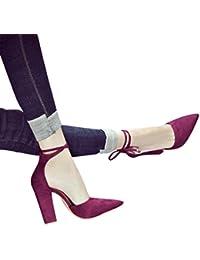 Ouneed ® Mujeres Arco Tobillo Vestido de Tacón Alto Sandalias Tacones de Tacón DE 8 cm Sandalias Para Boda Fiesta Noche Zapatos de Negocios