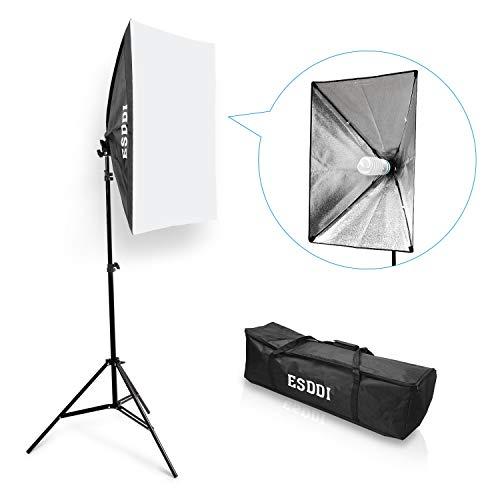 Esddi softbox set luci studio fotografico luce continua studio kit 85w lampade fotografia soft box illuminazione
