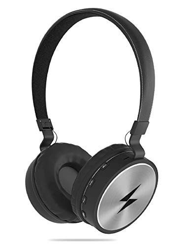 Boltt Aspire On-Ear Bluetooth Headphones with Extra HD Clarity and Super Bass with FM and SD Card Slot with Music and Calling Controls (Silver)