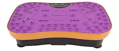 SZJ Power Plate - Equipo de Ejercicio Vibro Power Fitness Machine Wobble Board Reducción de Grasa Slim Vibration Plate Fitness Plataforma de Vibración Oscilante Mutiuse At Home Lazy Movement, púrpura