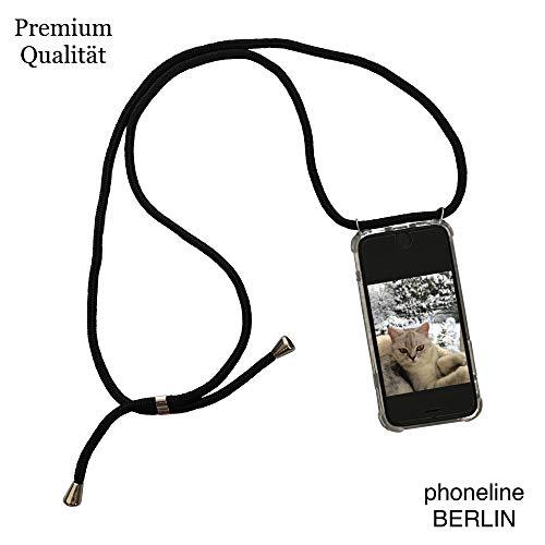phoneline Berlin iPhone nur für das 6 Plus und 6S Plus Case in schwarz Handyhülle mit Band Kette Necklace Kordel Umhängen Nur für das iPhone 6 Plus und 6s Plus passend
