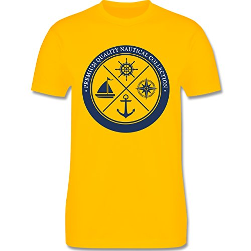 Shirtracer Schiffe - Premium Quality Nautical Collection Sailing - Herren T-Shirt Rundhals Gelb