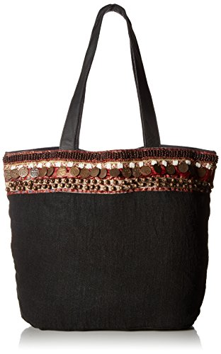 ale-by-alessandra-womens-cleopatra-soft-linen-tote-with-coin-belt-black-one-size