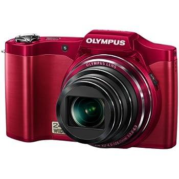 Olympus SZ-14 Digital Super Zoom Camera - Red (14MP, 24x Wide Optical Zoom) 3 inch LCD