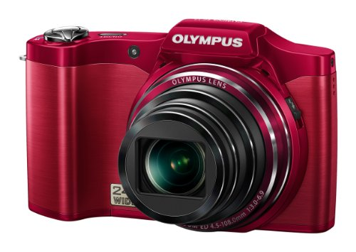 Olympus Traveller SZ-14 14MP Point and Shoot Digital Camera with 24x Optical Zoom (Red)