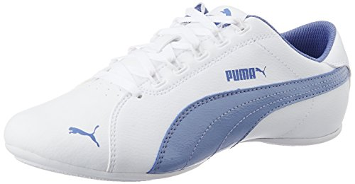 Puma Janine Dance 2 Jr, Mädchen Sneakers, Weiß (white-bleached denim 02), 38.5 EU (5.5 Kinder UK)