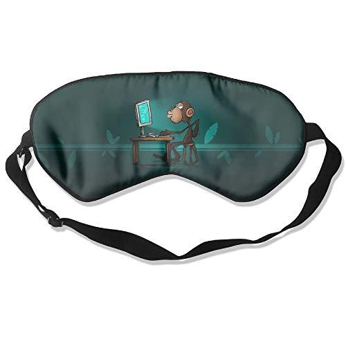 Lavender Silk Eye (100% Silk Sleep Mask Eye Mask Playing Monkey Soft Eyeshade Blindfold With Adjustable Strap For Men Women And Kids For Sleeping Travel Work Naps Blocks Light)
