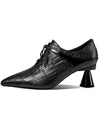 QINGMM Moda de Mujer Sobre la Rodilla Botas Escuela Zapatos de Mujer 2018 Invierno Cómodo Botas de Caballero de Tacón Bajo Tamaño 32-43 Calzado deportivo Bádminton