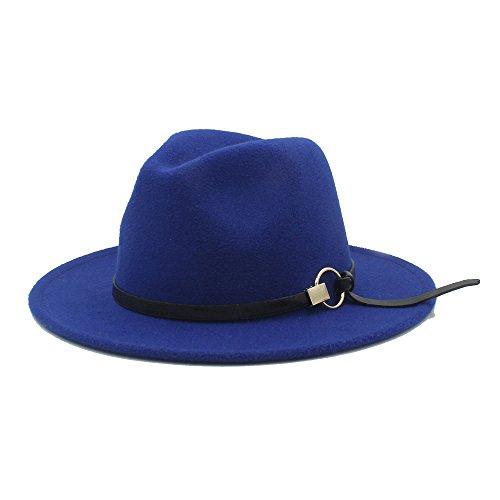 Sunny&Baby Hiver Large Bord Chapeaux Femmes Fedora Panama Chapeau Sombrero Feutre Chapeau Trilby pour Mesdames / Messieurs Mode ( Color : 3 , Size : 57-59cm )