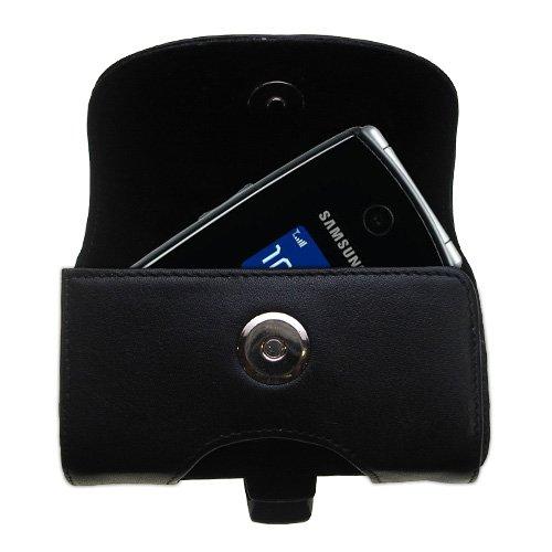 Gürtel Ledertasche Schwarz mit abnehmbaren Clip und Gürtelschlaufe für den Samsung SGH-A517