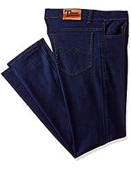 Teesort Men's Slim Fit Jeans (DENIMBUDGET-3_Blue-Royal_36W x 32L)