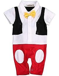 15b586c9747b stylesilove Baby Boy Bowtie Cartoon Photo Prop Romper Onesie (90 12-18  Months