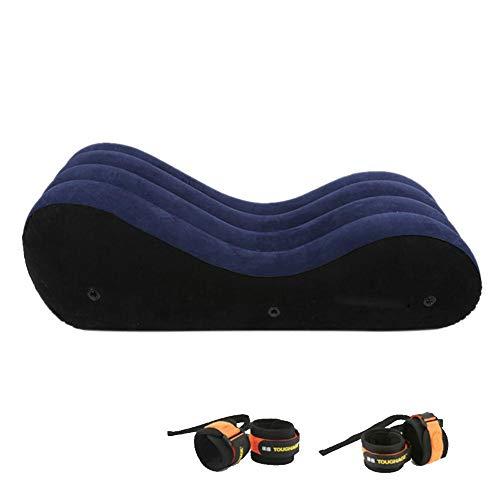 heling896 Aufblasbares Sofa, Sexspielzeug Aufblasbares Bett-Stuhl-Sofa mit Handschellen und Fußfesseln Akazienhotel-Spaß-Möbel-Ritter, für Sex, bequemere Erfahrung (Keine Luftpumpe) -