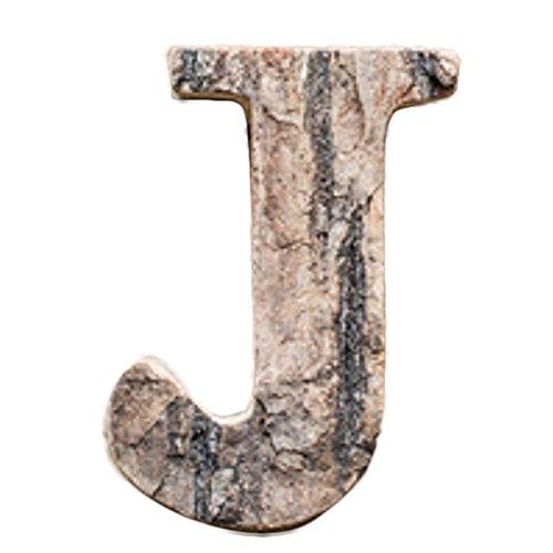 taben, Holz, Vintage-Stil, zum Aufhängen / Aufkleben etc. , Holz, J, 10 cm ()