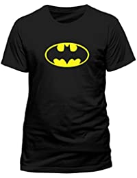 DC COMICS Men's Batman Logo Short Sleeve T-Shirt