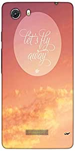 Snoogg Fly Away Abstract Quote Designer Protective Back Case Cover For Microm...