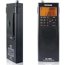 ZOGIN - PL360 Estereofónica FM SW/ MW/LW DSP Receptor de Radio Portátil Mundo de Banda PLL / Pantalla LCD con Función ETM, Color Negro