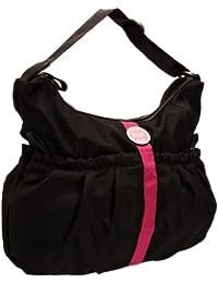 T.O.M. The Nora Nylon Hobo - Bolso de hombro, color Negro