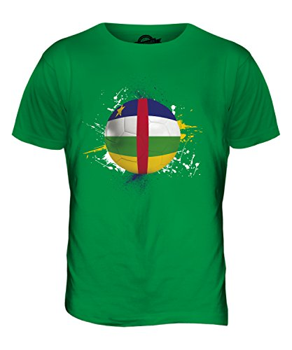 CandyMix Zentralafrikanische Republik Fußball Herren T Shirt Grün