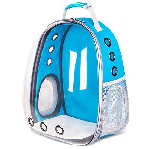 FOONEE Pet Bubble Backpack, Travel Cat Bag Pet Transparent Backpack Astronaut Panoramic Transparent Pet Bubble Traveler Knapsack with Window for Cats Petite Dogs & Small Animals, Airline-Approved