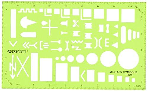 Westcott Technische Zeichnen Vorlage (t-825) (Schablone Militärische)