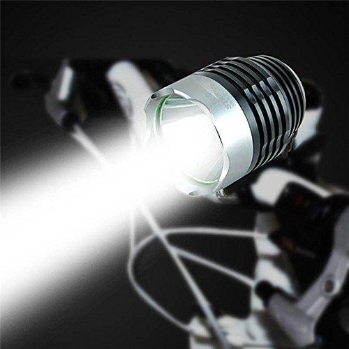 TOOGOO 3000 Lumen XML Q5 Interfaccia LED per bicicletta luce frontale per fari 3 modalita\' nero