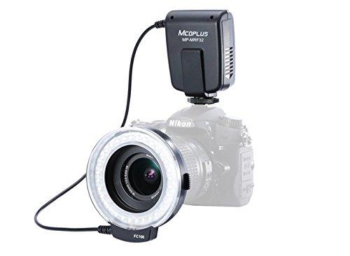 Mcoplus MRF32- Flash anulare per Nikon/Canon, colore: Nero
