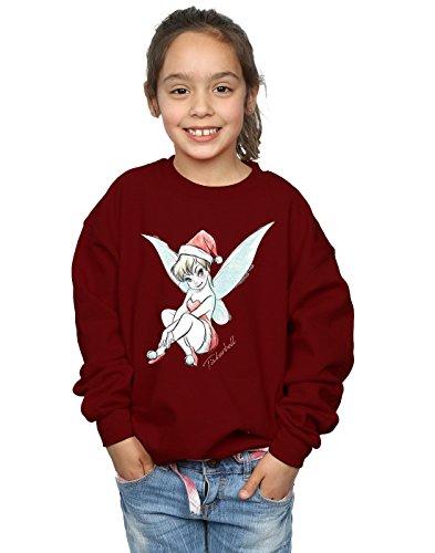 Disney Mädchen Tinkerbell Christmas Fairy Sweatshirt 5-6 Years Burgund -