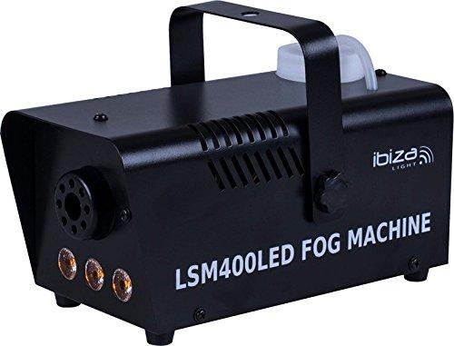 Ibiza LSM400LED-BK Machine à fumée - Noir