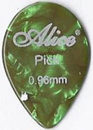 Confezione da 12 x Celluloide Plettri Piccolo Goccia | Alice AP600A | per Acustica Elettrica Basso | Medio Pesante 0.96mm