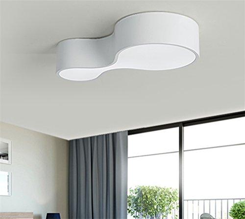 MOQJ Led 16W Profildecke Nordic Persönlichkeit Kinderzimmer Schlafzimmer Lampe einfache moderne Wohnzimmer Lampe kreative Studie Lampe, B, 44cm