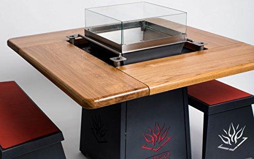 Funco Feuer Grundgestell Sitzmodel Grilltisch, Antrazit, 130x130x77 cm
