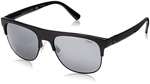 Polo Ralph Lauren Herren 0Ph4132 50016G 55 Sonnenbrille, Schwarz (Black/),
