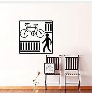 Fun Küche und Fitness-Bike Wandaufkleber PVC Kreuz Straße dekorative Grafiken...