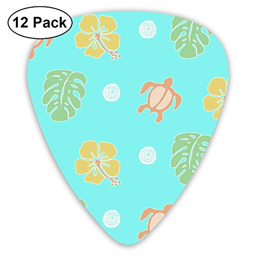 Lokelani Overall-sea Green_4049 Classic Celluloid Picks, 12-Pack, For Electric Guitar, Acoustic Guitar, Mandolin, And Bass -