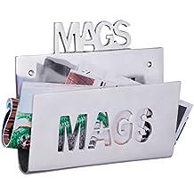 Wohnling pared Periódico stönder Magswitch de aluminio minium revistero metal revistero Industrial revistas para plata de colores para A höngen Vintage Revista stönder höngend balda (30x 26cm