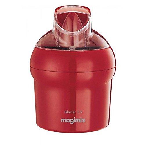 Magimix Sorbetière avec récipient pour gélatine 15W 1,5l Rouge