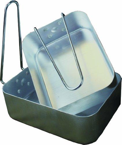 Highlander, Pentole in alluminio con manici - 2 misure Kochgeschirr aus Aluminium mit Klappgriffen 2 Größen, Argento (silber), Taglia unica