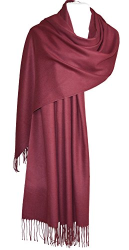 GFM® Soft Smooth Cashmere Feel Pashmina Style Wrap Scarf For Autumn & Winter