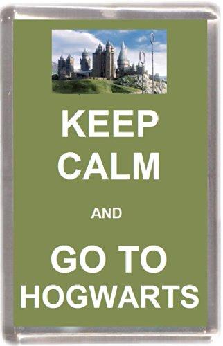 Kühlschrankmagnet keep calm and go to hogworts Geschenk Tourist Souvenir Mit Englisch Wörter (Potter-wort-magnete Harry)