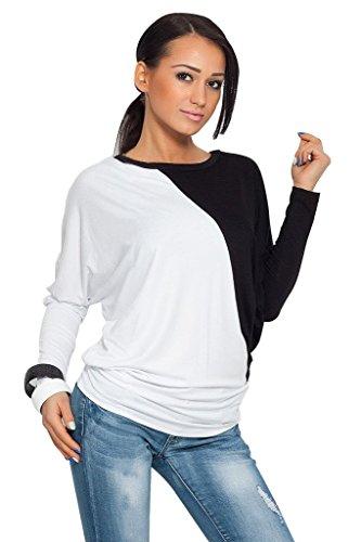 BOMOVO Damen Fashion Dots Celebrity Etuikleid Business Party Cocktail Kleid Weiß