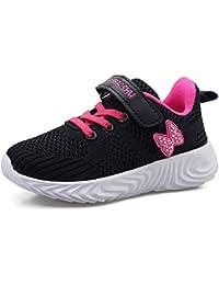 Formatori Ragazzi Ttraspirante Stradali Running Shoes Bambini Unisex Ragazze Leggero Sneakers Nero Blu Rosa