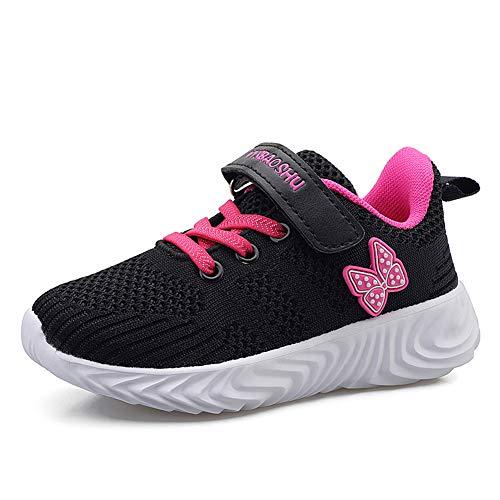 Scarpe Ginnastica Bambina Scarpe Running Bambina Sneaker Tennis Casual Atletica Leggera da Bambina Nero 33 EU=34 CN
