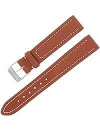 Breitling 120x 15–14mm Bracelet en cuir véritable marron Mesdames W Boucle.