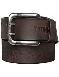 TOM TAILOR Ceinture en cuir ceinture hommes noir