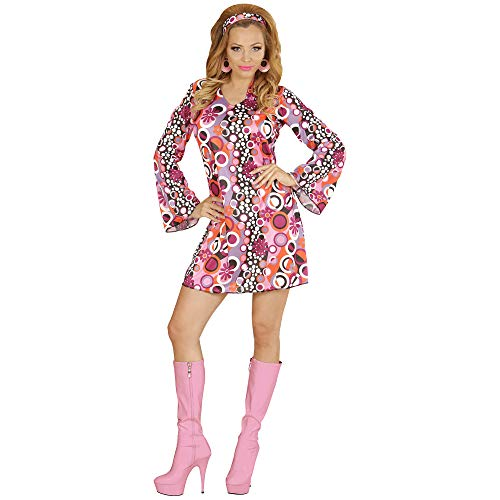 Groovy Kostüm Girls - Widmann 67642 Erwachsenenkostüm 70's Retrokleid, M