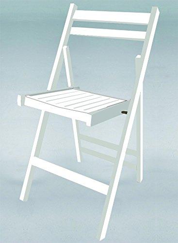 Chaise pliante en bois Couleur Blanc