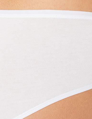Iris & Lilly BELD006M10 Brazilian Slip, Mehrfarbig (Black/White), 46, 10er-Pack - 3