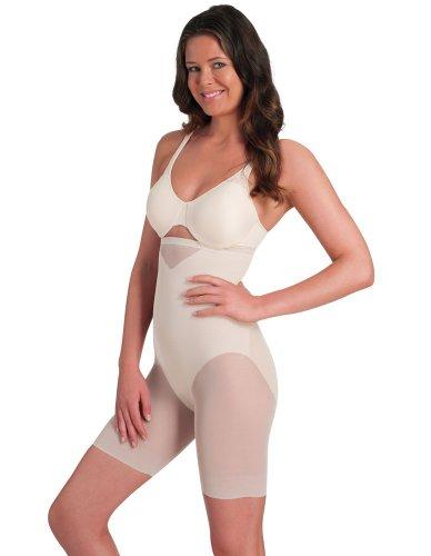 b861a31738 Miraclesuit Shapewear Sexy Sheer Gardenia Hi-Waist Thigh Slimmer 2789  XX-Large